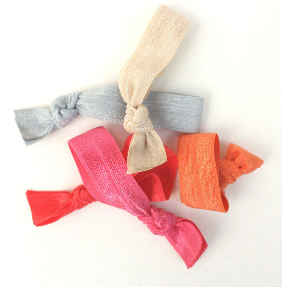 Kids Hair Ties (5) - Emi Jay Inspired Elastic Hair Ties (5) - Fabric ... 3a36a5c6471
