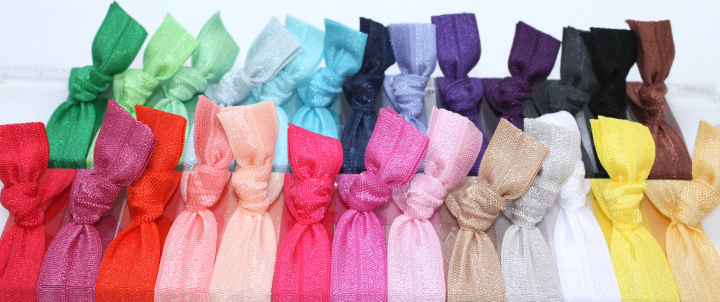 25 Hair Tie Grab Bag - Fabric Bracelets - Fold Over Elastic Hair Bands Gift  - Emi Jay Inspired Hair on Luulla 321f14aa6b6