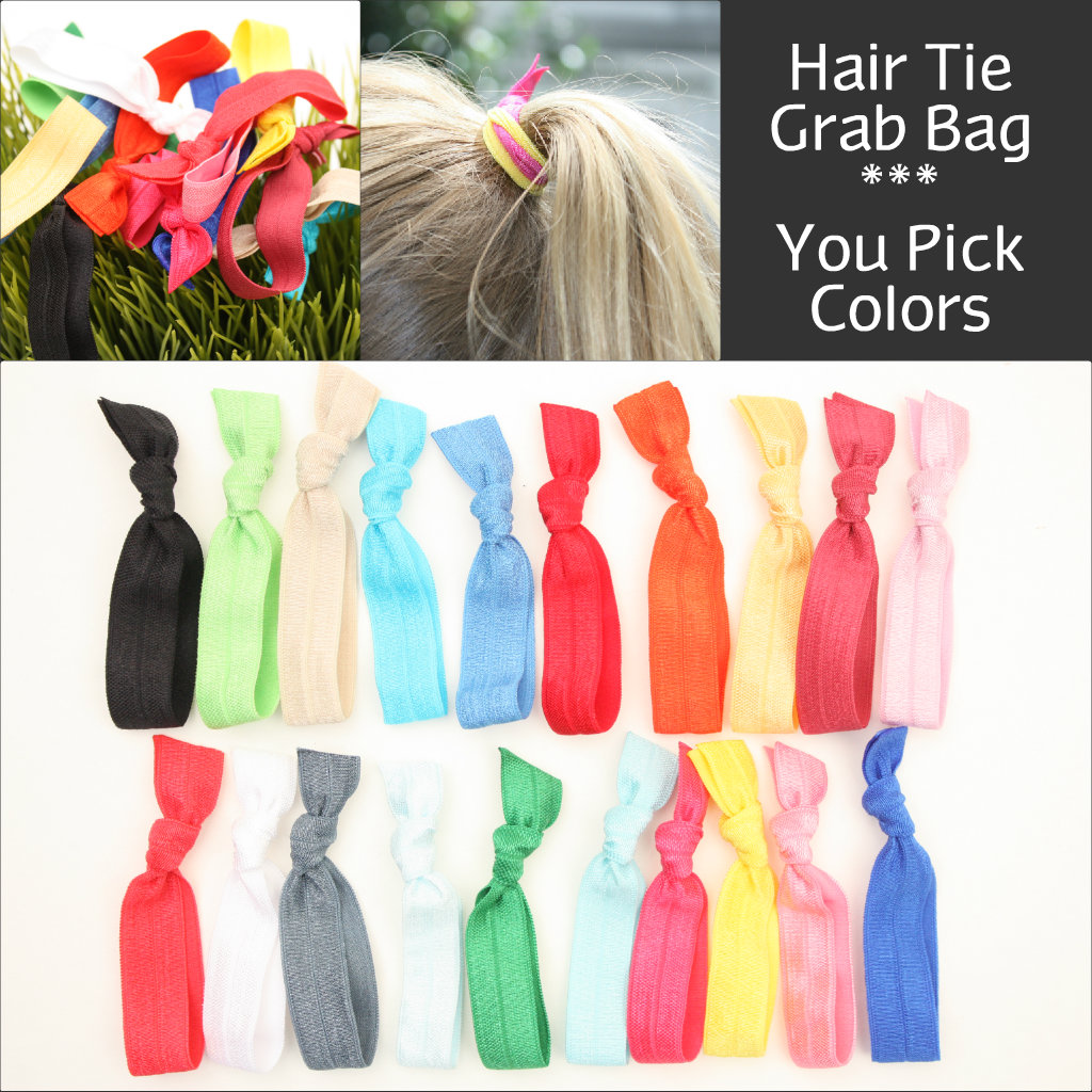 No Crease Hair Tie Grab Bag (20) Knotted Elastic Ribbon Hair Ties - Emi Jay  Like Fabric Yoga Hair Ba on Luulla b6183acfe02